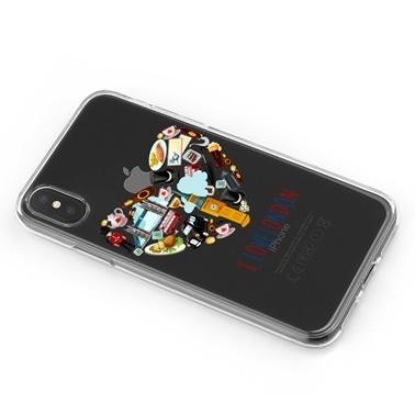 Lopard iPhone Xs Max Kılıf Silikon Arka Koruma Kapak Londrayı Seviyorum Desenli Renkli